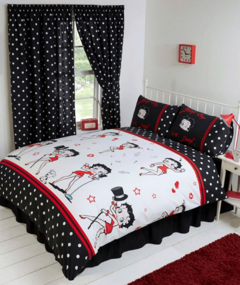Best Betty Boop Bedroom Reversible Bedding Duvet Quilt Cover With Pictures